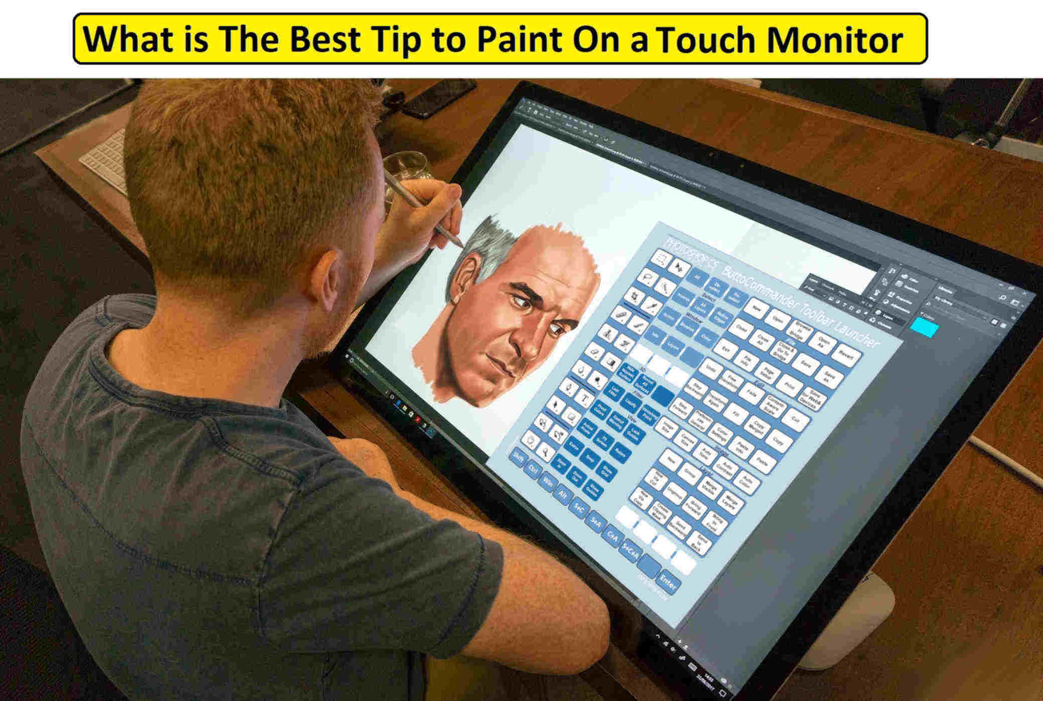 painting faster on touch screen monitor