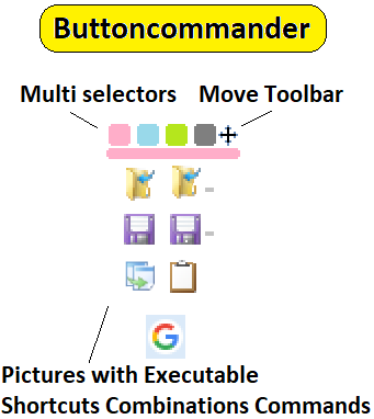 pictures with executable shortcuts commands