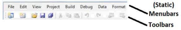 static menubars toolbars